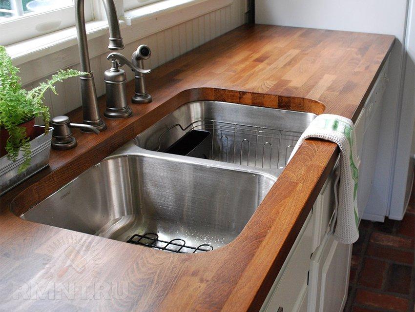 Как сделать столешницу из дерева своими руками на кухню 86