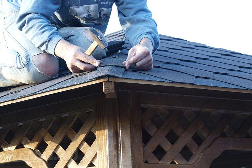 Сделать крышу из гибкой черепицы своими руками 74