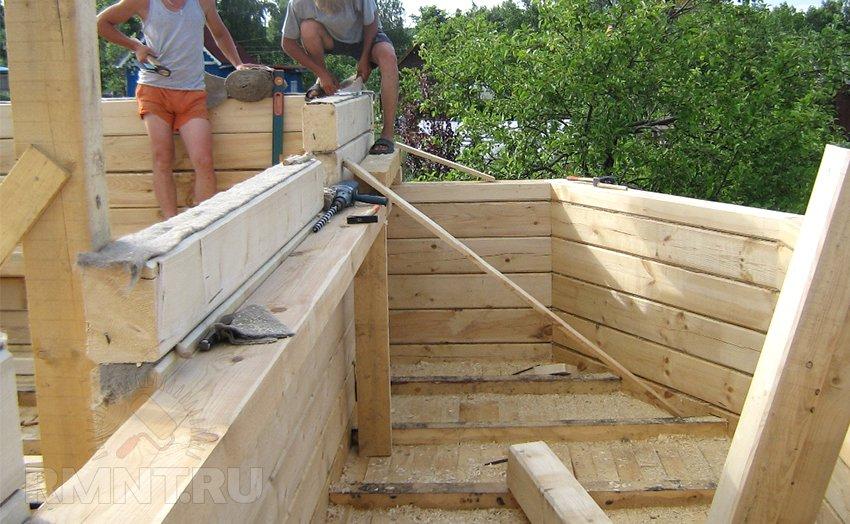Стоимость строительство дома из бруса своими руками 47